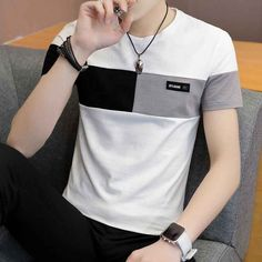 Cheap T Shirts, Casual T Shirts, Men Casual, Mens Tee Shirts, Simple Outfits, Casual Outfits, Male T Shirt, Top Streetwear, Le Polo
