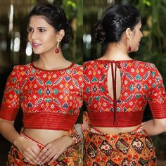 We don t sell any products if you like this post pl save it and tag your friends dm for credits or removal of this post blouse… Blouse Back Neck Designs, Fancy Blouse Designs, Blouse Designs Wedding, Indian Blouse Designs, Choli Designs, Churidar, Anarkali, Lehenga, Sarees