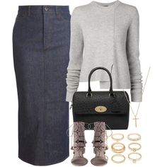 A fashion look from September 2015 featuring Proenza Schouler sweaters, dVb Victoria Beckham skirts and Mulberry handbags. Browse and shop related looks.