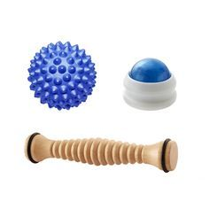Wooden Foot Roller Bundle with the Blue RhinoPro Hard Massage Ball & Blue Massage Roller Ball Migraine Pain, Lower Back Pain Relief, Getting A Massage, Massage Roller, Muscle Tension, Trigger Points, Deep Tissue, Qigong, Children With Autism