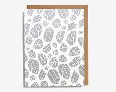 Metallic Quartz Crystals Screen Printed Note by Worthwhile Paper £2.70 #pattern