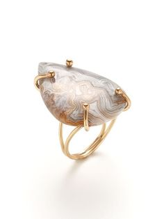 Alanna Bess Jewelry Teardrop Lace Agate Ring