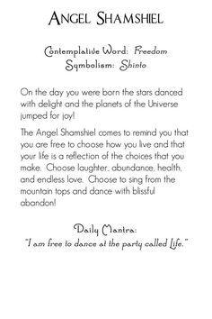 Archangel Shamshiel | back | Mystic Angels Oracle 11