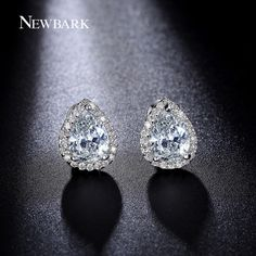 Find More Stud Earrings Information about NEWBARK Pear Shape High Quality Zircon…
