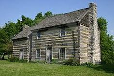 Reconstruction of the log cabin Polk was born in.   Presidents~19th ...