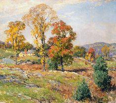"Willard Leroy Metcalf (1858-1925), ""The Approaching Festival"" - Ruth Chandler Williamson Gallery - Scripps College ~ Claremont, California, USA"