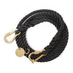 Found My Animal Adjustable Rope Leash Black