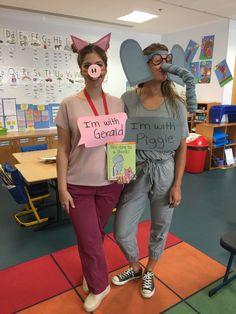 Piggie & Gerald Book Characters #piggie #gerald #elephantandpiggie #books #childrenbook #costume