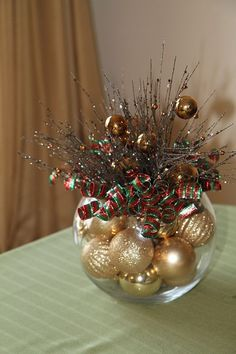 Wednesday: 7 Unique Holiday Centerpieces Christmas :) Santa Hat Christmas Decoration Merry Mailbox T. All Things Christmas, Simple Christmas, Winter Christmas, Christmas Holidays, Christmas Ornaments, Christmas Design, Christmas Bowl, Office Christmas, Etsy Christmas