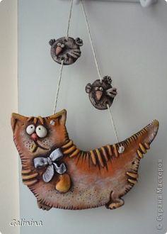 Поделка изделие Лепка Опять котяшки Тесто соленое фото 1