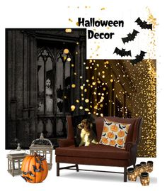 """Halloween"" by zsmagony on Polyvore featuring interior, interiors, interior design, home, home decor, interior decorating, Pottery Barn, Improvements and Meri Meri"