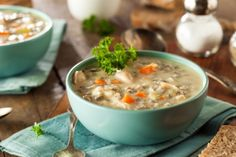 Creamy chicken and vegetable soup via MyFamily.kiwi