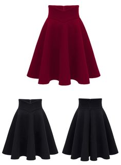 MSGM Grey Wool Blend Pleated Circle Skirt (125 KWD) ❤ liked on ...