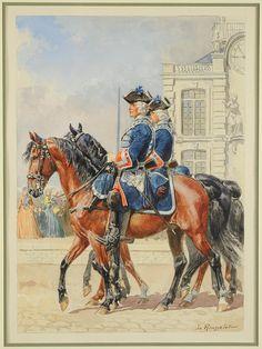 GARDES DU CORPS DU ROI, SERVICE À CHEVAL , 1° compagnie française, by Lucien Rousselot.