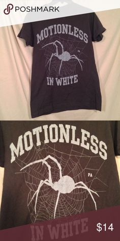 Motionless in White Motionless in White shirt from Warped 2016, size M. Never worn, great condition! Tags: spiderweb, goth, MIW, chris cerulli Tops Tees - Short Sleeve