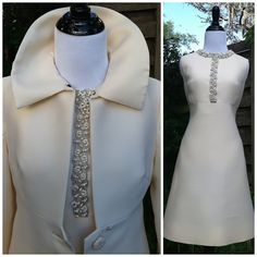 Vintage 1950s Dress set//winter white dress by INTUITIONVINTAGE, $350.00...classic and gorgeous £230.28