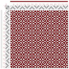 Hand Weaving Draft: Page 47, Figure 4, Bindungs-Lexikon für Schaftweberei, Franz Donat, 4S, 4T - Handweaving.net Hand Weaving and Draft Arch... placemat - my fave