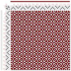 Hand Weaving Draft: Page 47, Figure 4, Bindungs-Lexikon für Schaftweberei, Franz Donat, 4S, 4T - Handweaving.net Hand Weaving and Draft Arch... placemat - my fave