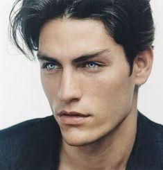 Beautiful Men Faces, Beautiful Boys, Gorgeous Men, Beautiful Models, Dark Hair Blue Eyes, Gray Eyes, Guys With Black Hair, Brown Hair Men, Blue Eyed Men