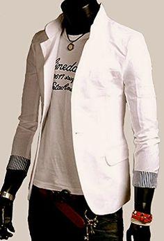( ノームコア フレンチ / インポート素材 ) Normcore French 春夏 テーラード カジュアル スーツ / 袖口 ストライプ ブレザー メンズ (ナチュレXXL) Normcore sense http://www.amazon.co.jp/dp/B00VY17U2A/ref=cm_sw_r_pi_dp_Asxsvb0HA9NAA