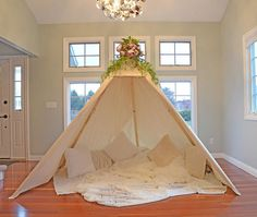 Items similar to TEEPEE ADULT; boho tepee on Etsy Diy Teepee, Teepee Party, Diy Tent, Comfy Room Ideas, Romantic Room Decoration, Indoor Tents, Family Tent, Sleepover Party, Tent Wedding