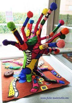 Kunst Grundschule - Sculpture project for kids - Beste Art Pins 3d Art Projects, School Art Projects, Projects For Kids, Sculpture Lessons, Sculpture Projects, Sculpture Art, Classe D'art, Kindergarten Art Projects, Kindergarten Sculpture