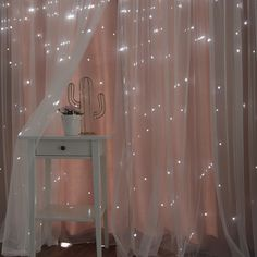 Harriet Bee Efird Tulle Overlay Star Cut Out Blackout Thermal Grommet Curtain Panel Cute Room Decor, Teen Room Decor, Room Ideas Bedroom, Bedroom Decor, Cozy Bedroom, Magical Bedroom, Star Bedroom, Bedroom Ceiling, Bedroom Small