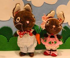 Homemade Toys, Cute Bunny, Teddy Bears, Stuffed Animals, Bunnies, Dolls, Christmas Ornaments, Holiday Decor, Friends