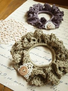 crochet scrunchie, I have been looking for these directions FOREVER!