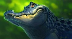 An image I created during a demo at Lipscom University in Nashville, TN.  #alligator #digitalart /Aaron Blaise