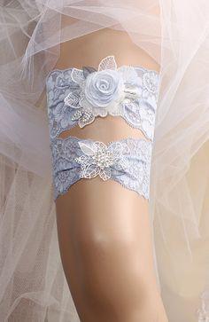 wedding garter set bridal garter set lace garter set blue Bridal Veils And Headpieces, Wedding Veils, Wedding Hair, Bride Garter, Lace Garter, White Wedding Garter, Something Blue Wedding, Wedding Lingerie, Bridal Hair Accessories