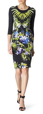 GIVENCHY Orchid-print dress
