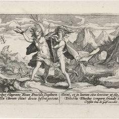 Apollo achtervolgt Daphne, Crispijn van de Passe (I), 1602 - 1607 - Rijksmuseum
