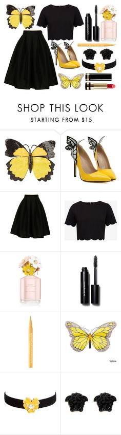 """Butterfly"" by princess13inred ❤ liked on Polyvore featuring Nancy Gonzalez, Fashionomics, Ted Baker, Marc Jacobs, Bobbi Brown Cosmetics, Too Faced Cosmetics, Kenneth Jay Lane, Versace and Gucci"