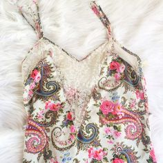 BEAUTIFUL PRINT LINGERIE DRESS Perfect condition besides a quarter sized hole that can be fixed easily **remember to bundle and save 10%** no holds/no trades/no modeling/no asking for lowest Victoria's Secret Intimates & Sleepwear Chemises & Slips