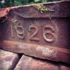 Great old brick #foundletters  #bricks
