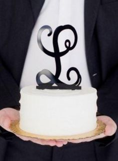 Cake, Cupcake and Pupcake Monogram Dessert Toppers - Monograms make gifts so personal and special, but put them on a dessert for a special occasion and the experience becomes FABULOUS! www.beaujax.com