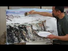 Landscape Painting Tutorial: Grand Canyon with Split Brush Techniques on Triple Xuan Paper(3/3)