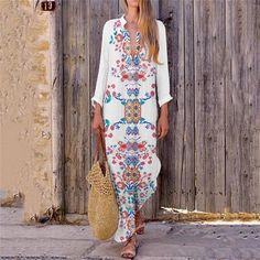 b1c58142e5e Plus Size. Women Plus Size Long Sleeve Print Dress - Aleya Collections