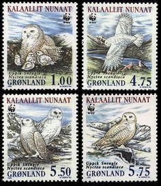 Greenland WWF Snowy Owl 4 stamps SG#346/49 MI#331-34 SC#344-47 in Stamps, Stamps | eBay