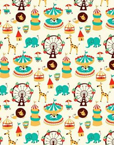 Papel estampado circo
