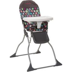 Cosco Simple Flat Fold High Baby Chair with Easy Wipe Designable Seat Full Size 3position Adjustable Tray Bloom -- More info could be found at the image url.