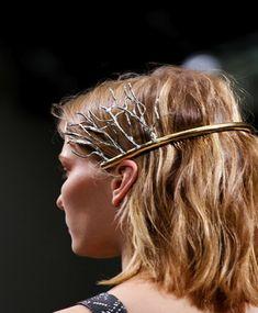"""miuchachacha: """" Tilda Lindstam at Balenciaga Spring/Summer 2013 """" Hair Inspo, Hair Inspiration, Tilda Lindstam, Balenciaga Spring, Balenciaga Top, Fashion Accessories, Hair Accessories, Fashion Jewelry, Vogue"""