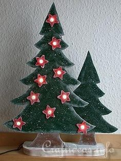 free wood projects for christmas | Wood Craft for Christmas - Scroll Saw Project - Lighted Christmas ...