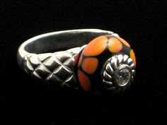 Quilted Bead Ring  - .925 Sterling Silver - Interchangeable Bead Jewelry - incl. 1 FREE charm bead - Free Shipping in USA - I ship worldwide - Flat rates available for international customer - JEWELS by REGINA - http://www.europeartimport.com     $179.00