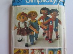 Rag Doll Pattern//Simplicity 9137//Learning Aid Doll Pattern by Waitingforgeorge on Etsy