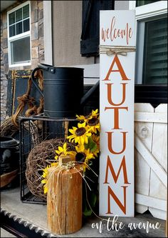 #1 - Welcome Autumn Tall Sign
