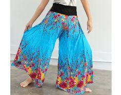 Batik Yoga Harem Pants Blue Fisherman Hippie Pants Wrap Gypsy Pants Ladies Women Pants. $29.90, via Etsy.
