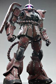 GUNDAM GUY: PG 1/60 MS-06S Char's Zaku II - Battle Damage Build w/ LED Plastic Model Kits, Plastic Models, Perfect Grade, Robot Parts, Gundam Wallpapers, Gundam Mobile Suit, Gundam Custom Build, Model Hobbies, Gundam Art