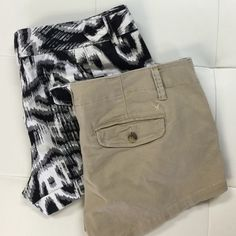 """(2pc) AE & EXPRESSION SHORT Pre-Made Bundle Just a easy way for you to get the most bang for you buck.  Ask all your questions and then let's gets these beautiful shorts home to you.   Bundle includes: AMERICAN EAGLE (12) front seam 10"""" , EXPRESSION (12) front seam 10"""" Shorts"""